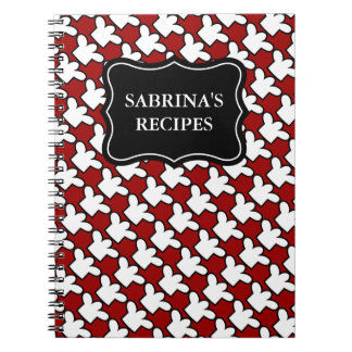 Personalized name notebook | recipe cookbook