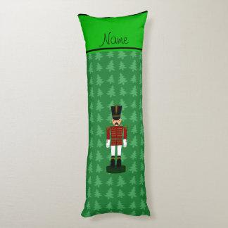 Personalized name nutcracker green Christmas trees Body Pillow
