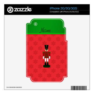 Personalized name nutcracker red snowflakes decal for iPhone 3G