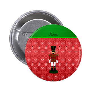 Personalized name nutcracker red snowman trellis pins