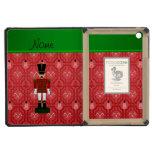 Personalized name nutcracker red snowman trellis iPad mini covers