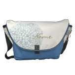 Personalized Name on Hydrangea Courier Bags