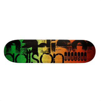 Personalized Name on Neon Orange Yellow & Green Skate Boards