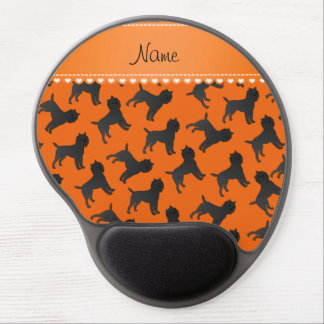 Personalized name orange affenpinscher dogs gel mouse pad