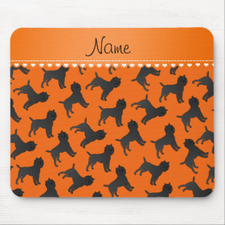 Personalized name orange affenpinscher dogs mouse pad