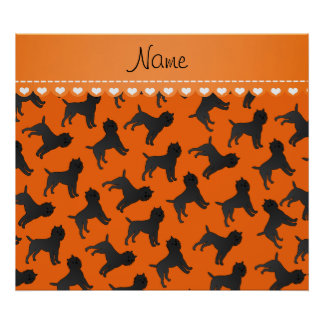 Personalized name orange affenpinscher dogs poster