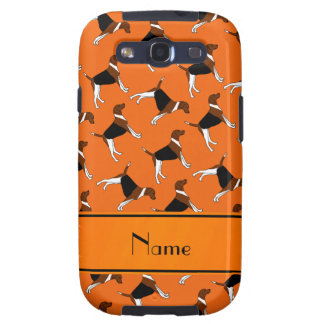 Personalized name orange american foxhound dogs galaxy SIII cover