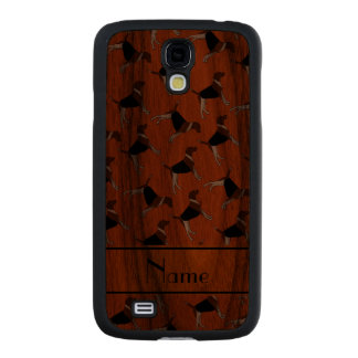 Personalized name orange american foxhound dogs carved® walnut galaxy s4 case