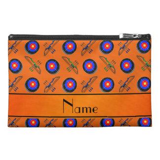 Personalized name orange archery travel accessory bag