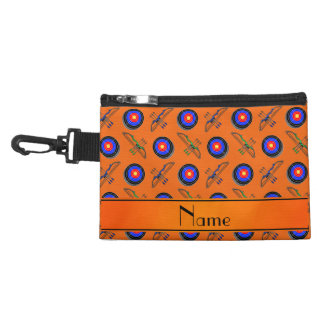 Personalized name orange archery accessories bags