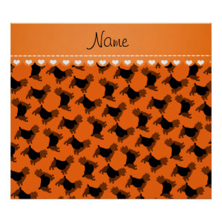 Personalized name orange australian terrier dogs poster
