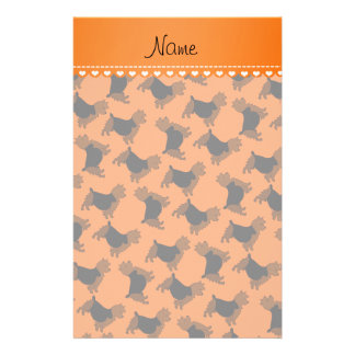 Personalized name orange australian terrier dogs stationery