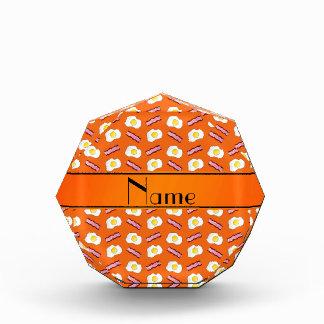 Personalized name orange bacon eggs acrylic award