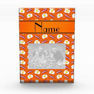 Personalized name orange bacon eggs awards