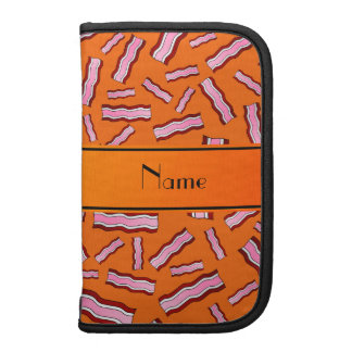 Personalized name orange bacon pattern organizer