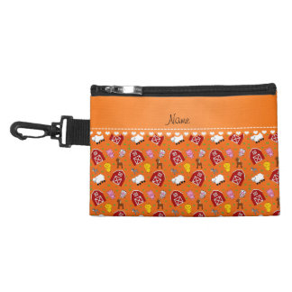 Personalized name orange barn animals accessories bags