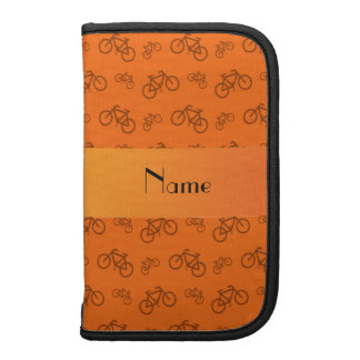 Personalized name orange bicycle pattern planner