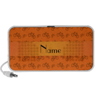 Personalized name orange bicycle pattern PC speakers