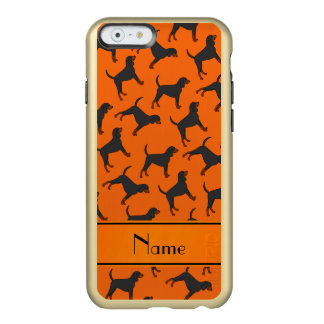 Personalized name orange black tan coonhounds incipio feather® shine iPhone 6 case