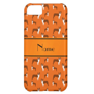 Personalized name orange boston terrier cover for iPhone 5C
