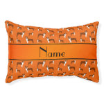 Personalized name orange boston terrier small dog bed