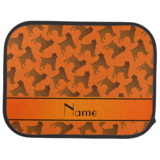 Personalized name orange brussels griffon dogs car mat