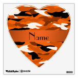 Personalized name orange camouflage room decals