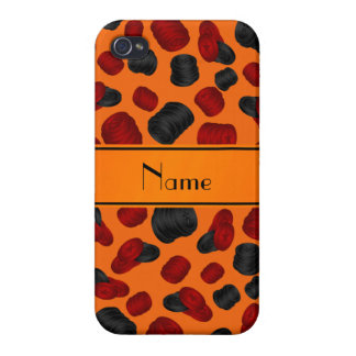 Personalized name orange checkers game iPhone 4/4S case