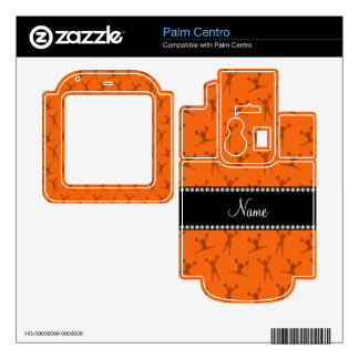 Personalized name orange cheerleader pattern skins for palm centro