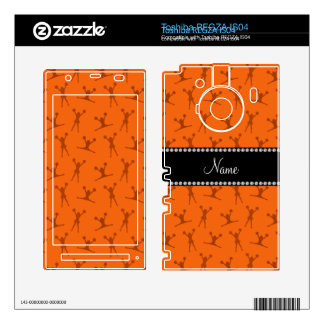 Personalized name orange cheerleader pattern toshiba REGZA decals