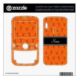 Personalized name orange cheerleader pattern ALCATEL tribe skins