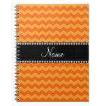 Personalized name orange chevrons journal