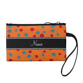 Personalized name orange crochet pattern change purses