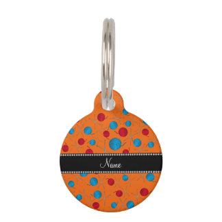 Personalized name orange crochet pattern pet nametags