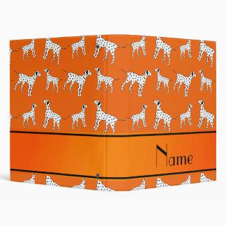 Personalized name orange dalmatian dogs binder