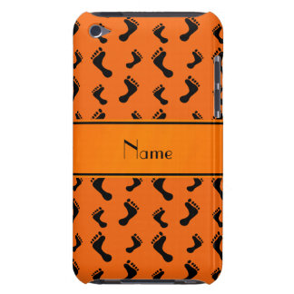 Personalized name orange feet barely there iPod case