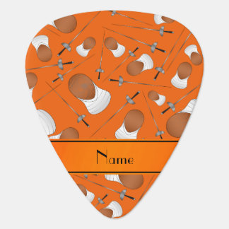 Personalized name orange fencing pattern pick