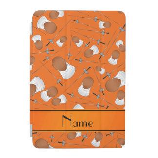 Personalized name orange fencing pattern iPad mini cover