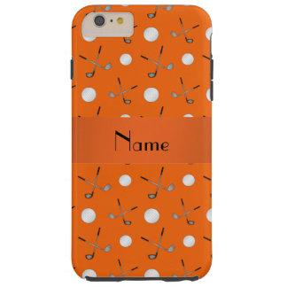 Personalized name orange golf balls tough iPhone 6 plus case