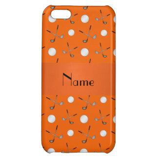 Personalized name orange golf balls iPhone 5C cover