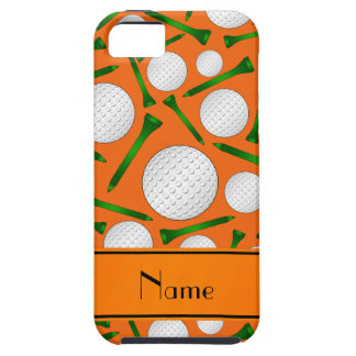 Personalized name orange golf balls tees iPhone 5 cases