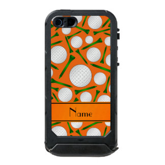 Personalized name orange golf balls tees incipio ATLAS ID™ iPhone 5 case