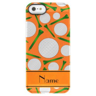 Personalized name orange golf balls tees permafrost iPhone SE/5/5s case