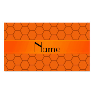 Personalized name orange honeycomb Double-Sided standard business cards (Pack of 100)