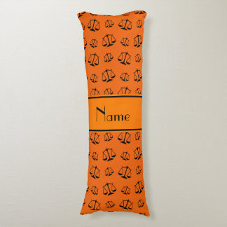 Personalized name orange justice scales body pillow