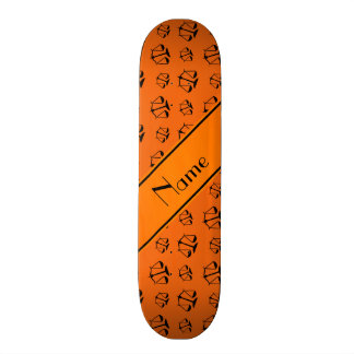 Personalized name orange justice scales skateboard deck