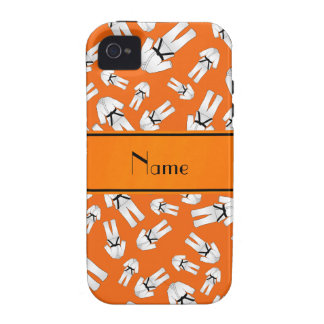 Personalized name orange karate pattern Case-Mate iPhone 4 covers