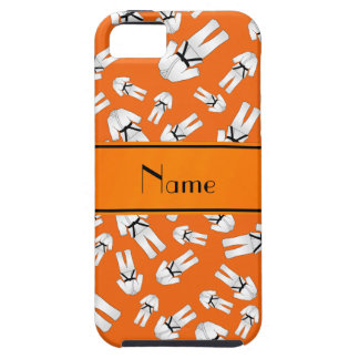 Personalized name orange karate pattern iPhone 5/5S covers