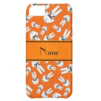 Personalized name orange karate pattern case for iPhone 5C