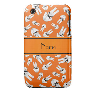 Personalized name orange karate pattern iPhone 3 cover